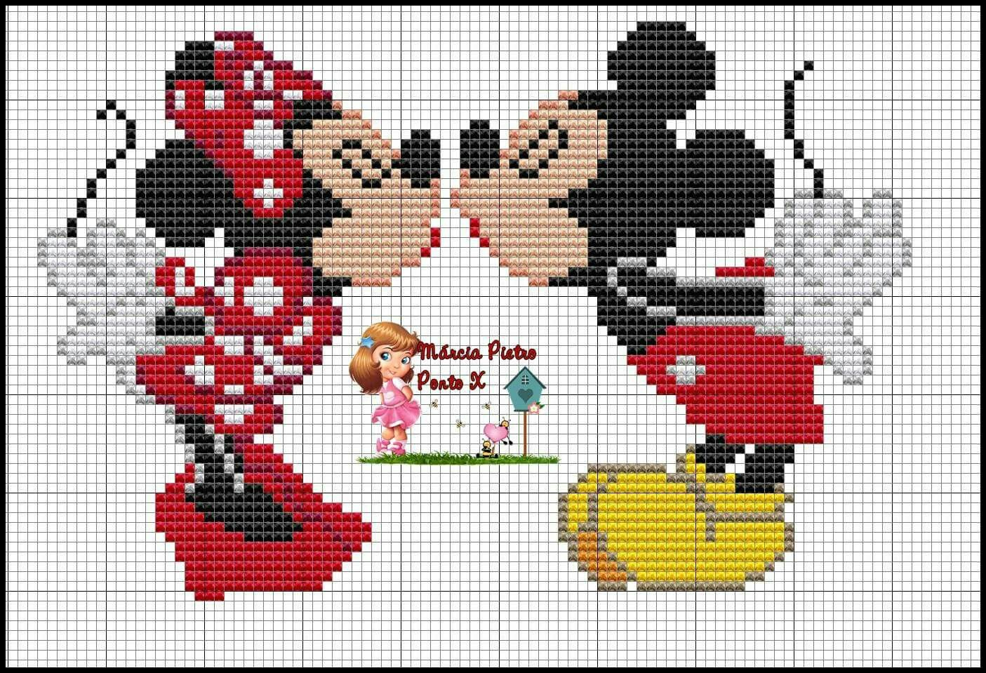 minnie and mickey mouse x stitch kreuzstich. Black Bedroom Furniture Sets. Home Design Ideas