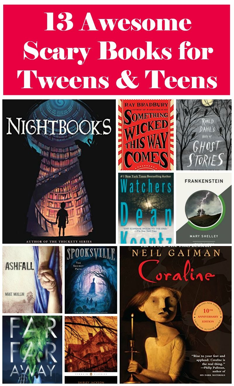 13 great scary books that are appropriate for tweens