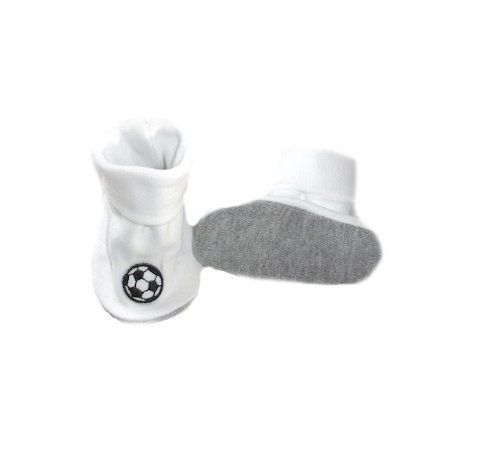 White Baby Crib Shoe with Soccer Balls Jacqui's Preemie Pride. $11.99