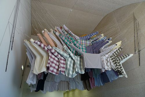 Shirts But More Like Tim Walker S Floating Dresses Fashion Installation Installation Design Denim Decor