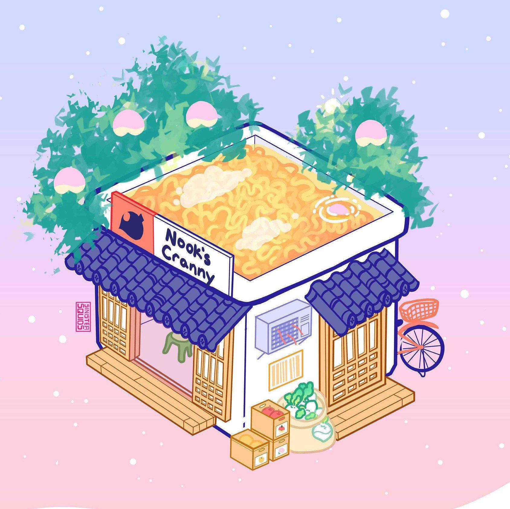 Animated Animal Crossing New Horizons Ramen MP4 Phone ...