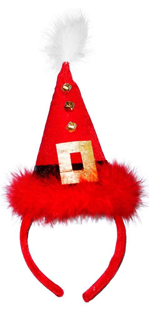 Аксессуар для карнавала «Ободок новогодний красный»