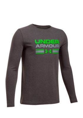 0057ec0f0 Under Armour Cotton Crossbar Logo Long Sleeve Tee Boys 8-20 - Gray - Xl