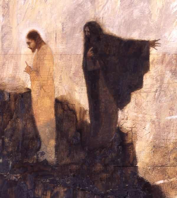 Temptation of Christ, by J. Kirk Richards