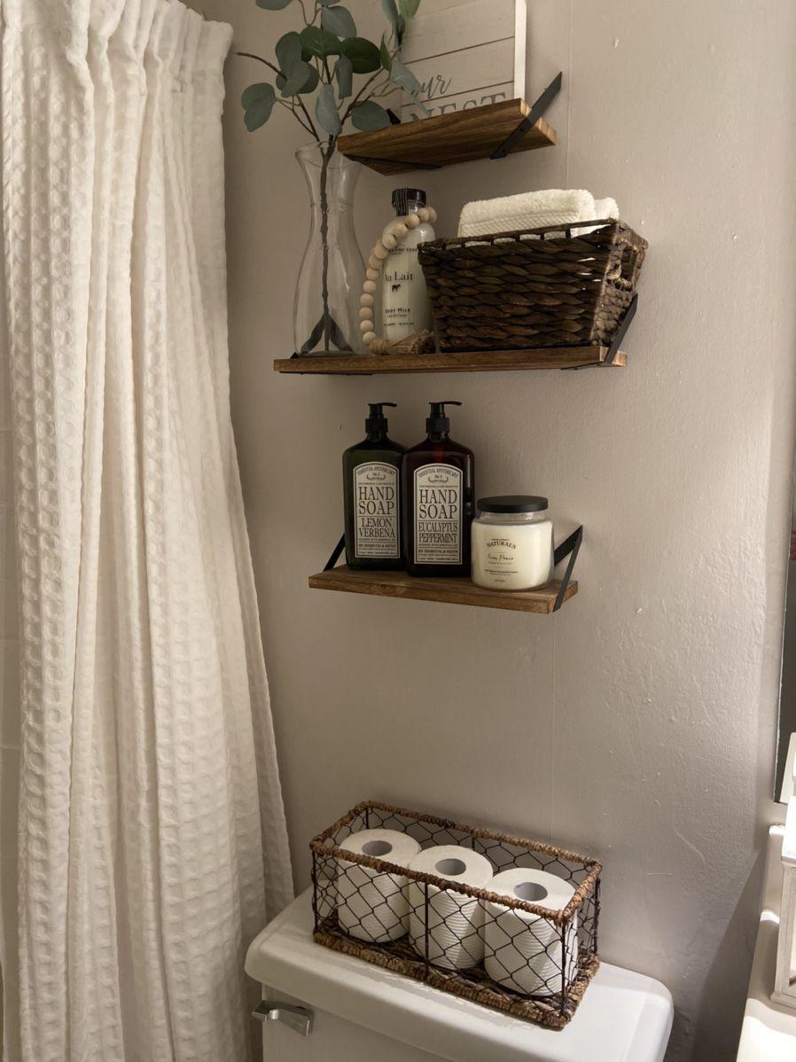 Farmhouse Bathroom Decor Ideas Bathroom Baskets Farmhouse Bathroom Decor Bathroom Decor Bathroom basket decorating ideas