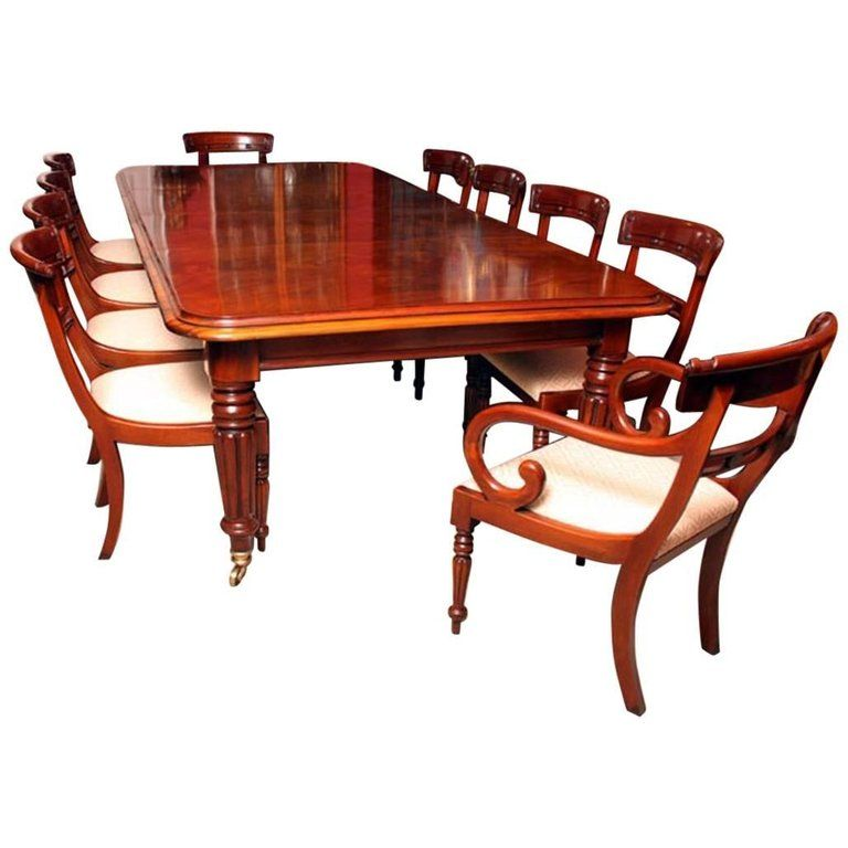 Grand English Regency Mahogany Dining Table And Ten Chairs From A Unique Collection Of Antique Dining Room Sets Mahogany Dining Table Modern Dining Room Set