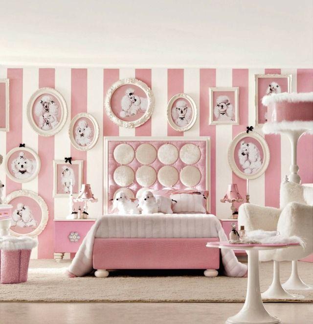 D coration chambre de fille en rose une d co de princesse d corations ros - Decoration des chambres des filles ...