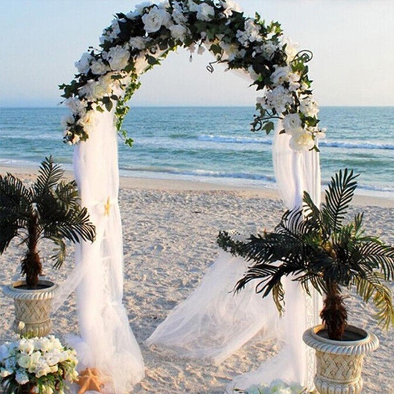 5m 10m Sheer Organza Fabric Beach Wedding Ceremony Bouquet: Pin On Products
