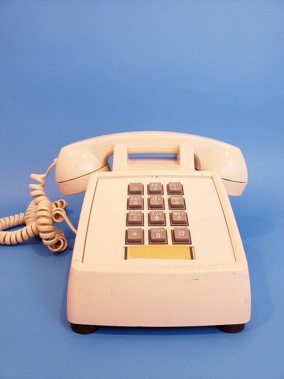 1a58c98d5 Telephone from the early 80 s. Northern Telecom Push Button beige Vintage  Phone