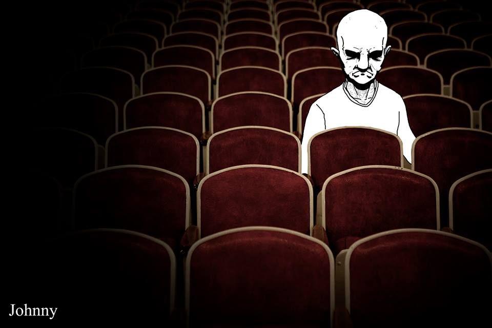 """Johnny #01 Este é Johnny! """"Eu vou ao cinema às vezes. É Divertido…"""" Diz Johnny."""