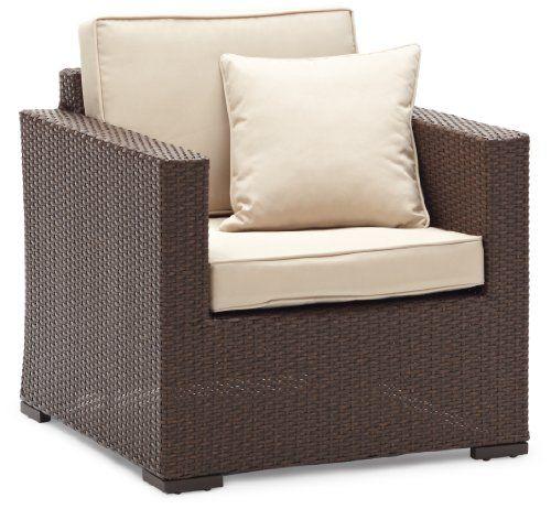 Strathwood Griffen All Weather Wicker Chair, Dark Brown   [HOME U0026 GARDEN]