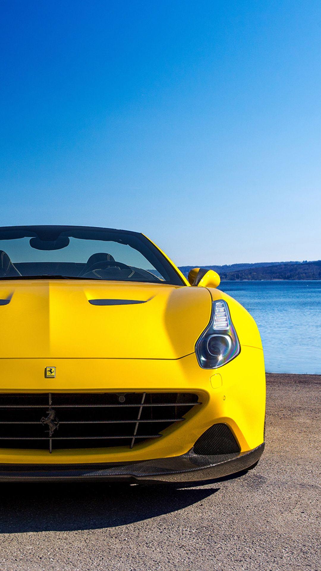 黄色いフェラーリ フェラーリ スポーツカー 壁紙