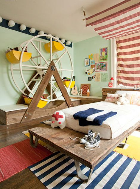 Habitaciones infantiles decoración circo | Habitaciones infantiles ...