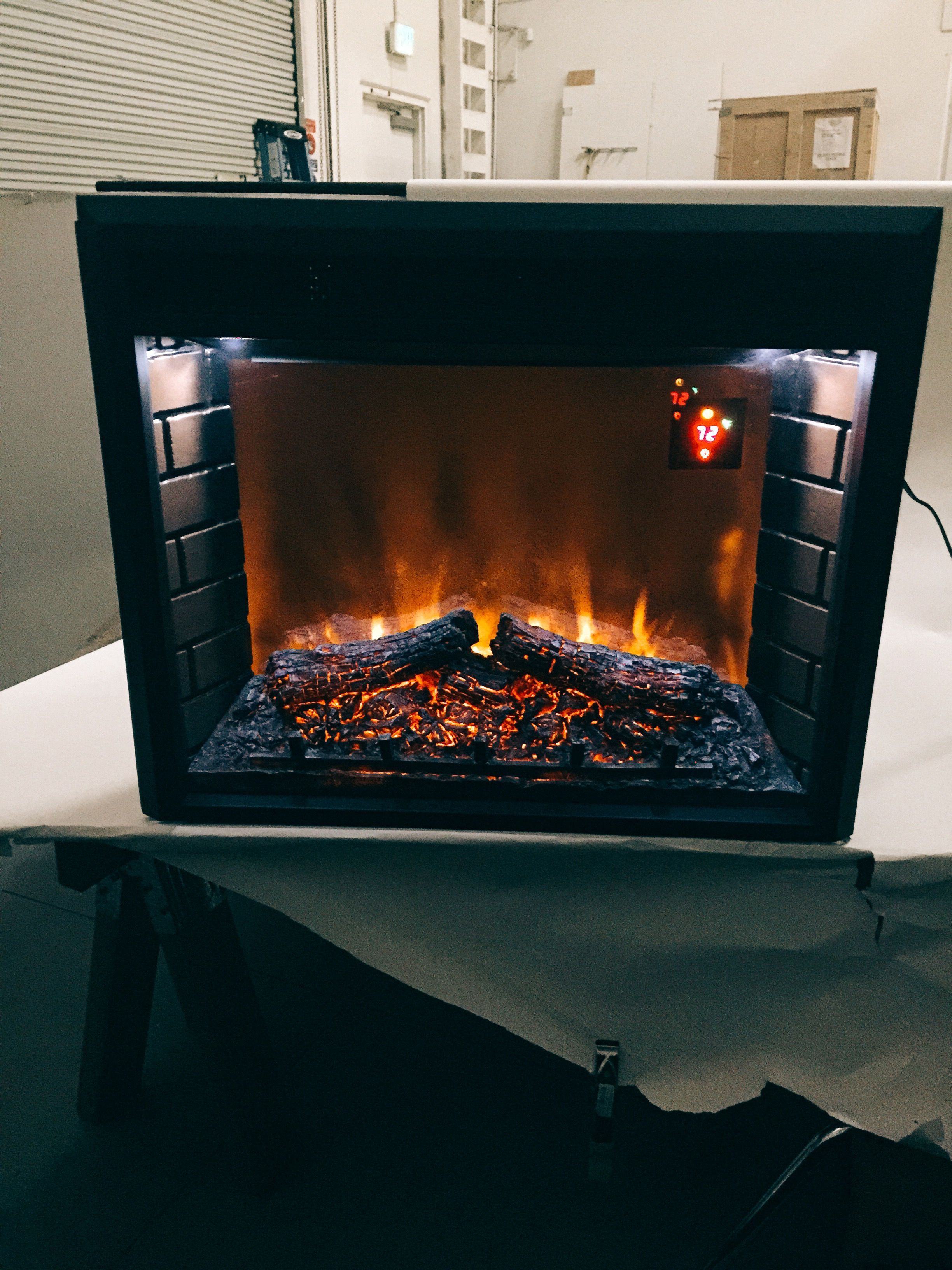The Electric Heater Looking Better Than Ever Lights Up On The Inside Giving It An Elegant Look Gas Log Sets Ventless Fireplace Gas Heater