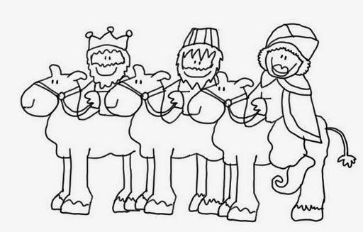 Maestra de Infantil: Reyes Magos para colorear | dibujos biblicos