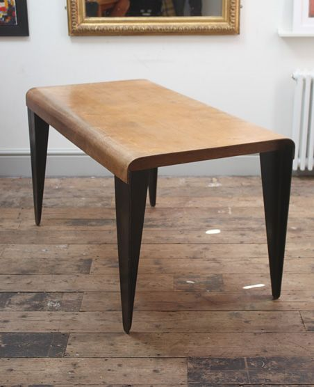Marcel Breuer; BT3 Molded Birch Plywood Dining Table for