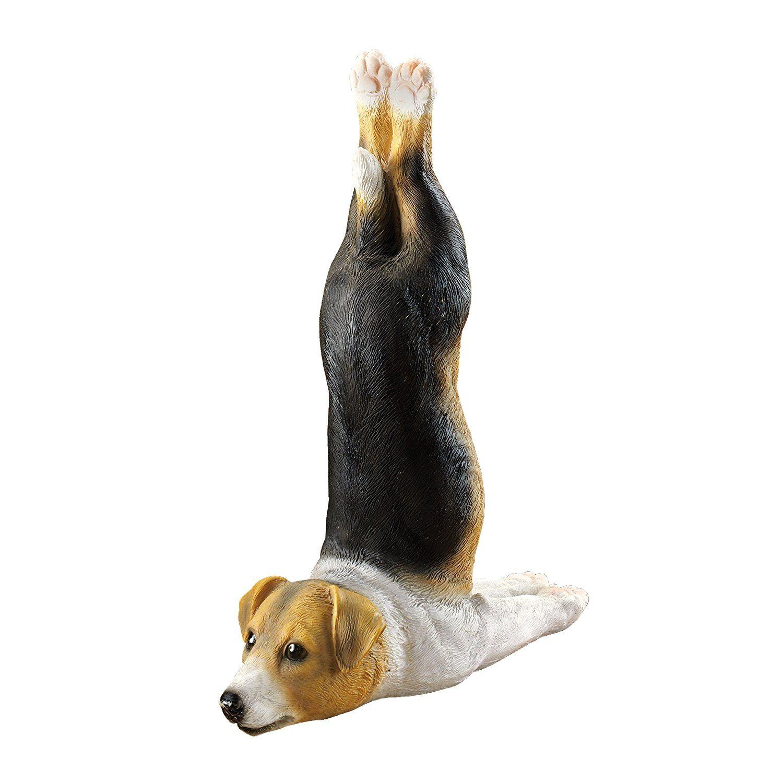 Design Toscano The Zen Of Canine Woofamba Beagle Yoga Dog Statue U003eu003eu003e More  Info