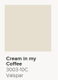 Valspar Cream In My Coffee 3003 10c Flat Dining Room Upper 1 2 Ceiling Match Painted Kitchen Cabinets Colors Basement Paint Colors Dining Room Colors