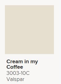 Valspar Cream In My Coffee 3003 10c Flat Dining Room Upper 12