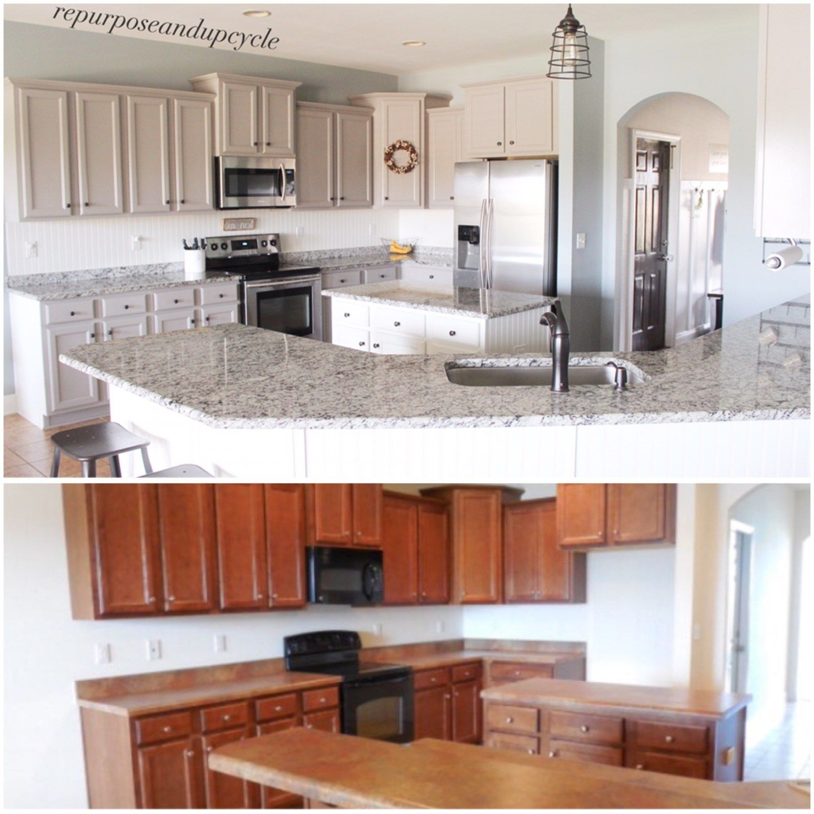 MODERN FARMHOUSE KITCHEN UPDATE (RENOVATION) For UNDER FOUR THOUSAND  DOLLARS.