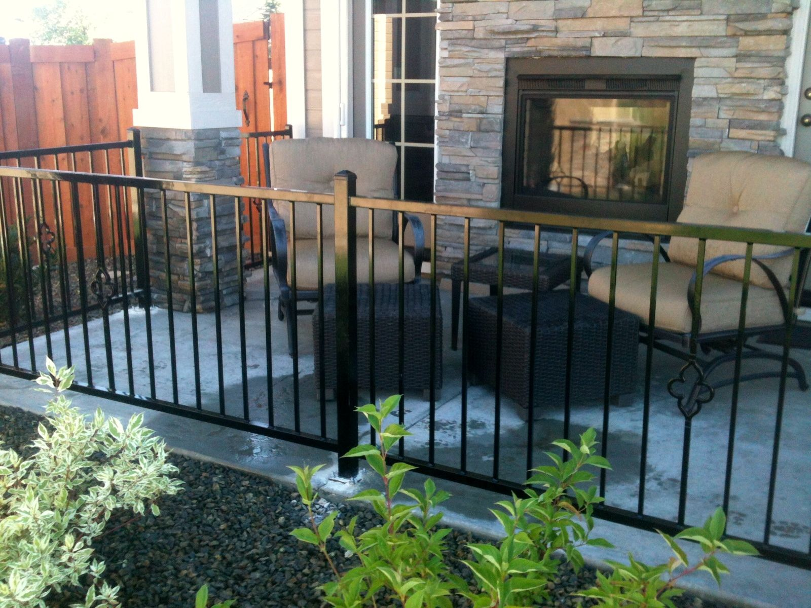 Outdoor Patio Railing Installed By Frontier Fence Company In Boise Idaho  And Treasure Valley