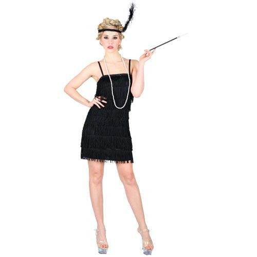 Black 1920's Flapper Dresses Available in Plus Size - Flapper girl dress, Halloween dresses for girls, Flapper girl costumes - 웹