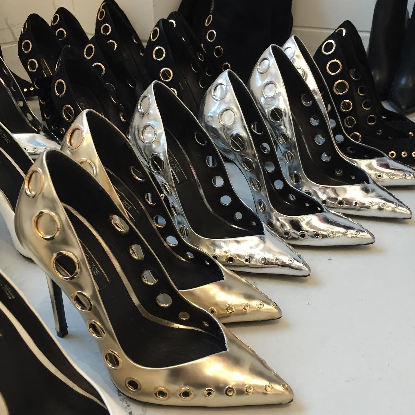 RACHEL  ZOE'S metallic pumps  |  shoes 1