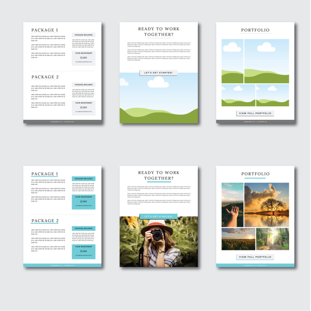 Services & Pricing Template Packet For Canva (With Images