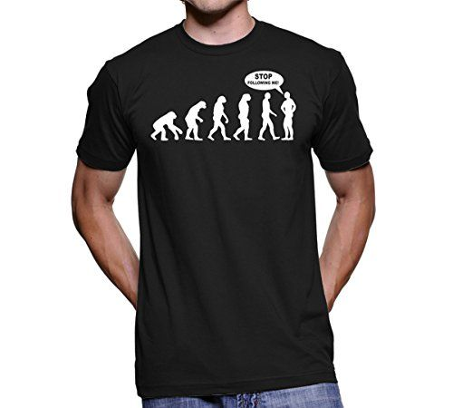 Funny T-shirt for Men - Stop Following Me - One of the Best Gifts ...