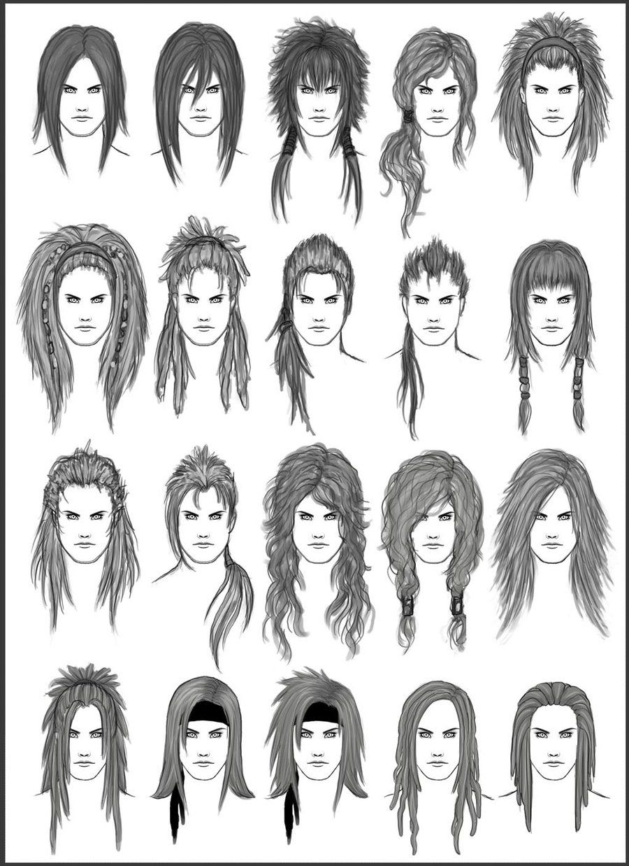 Character Design Hairstyles : Men s hair set different hairstyles for boys