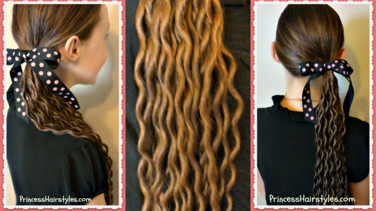 Noodle curls tutorial no heat curls hair styles pinterest
