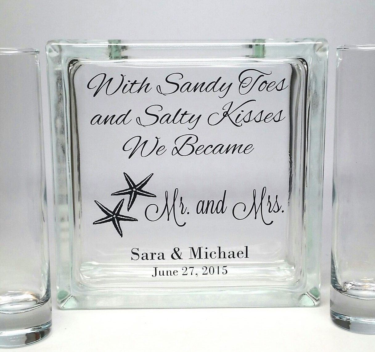 Beach Wedding Candle Ceremony: Unity Sand Ceremony Set, Wedding Sand Ceremony Set