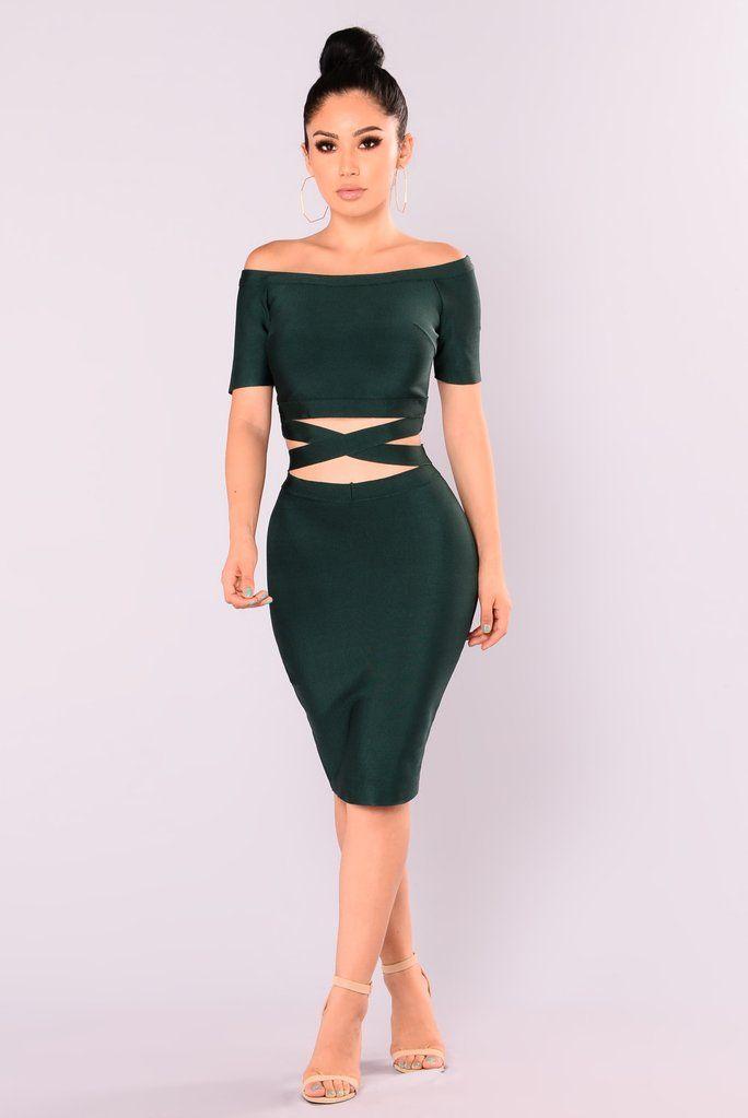 f79805f5c3 Excuse My Sass Bandage Dress - Hunter Green