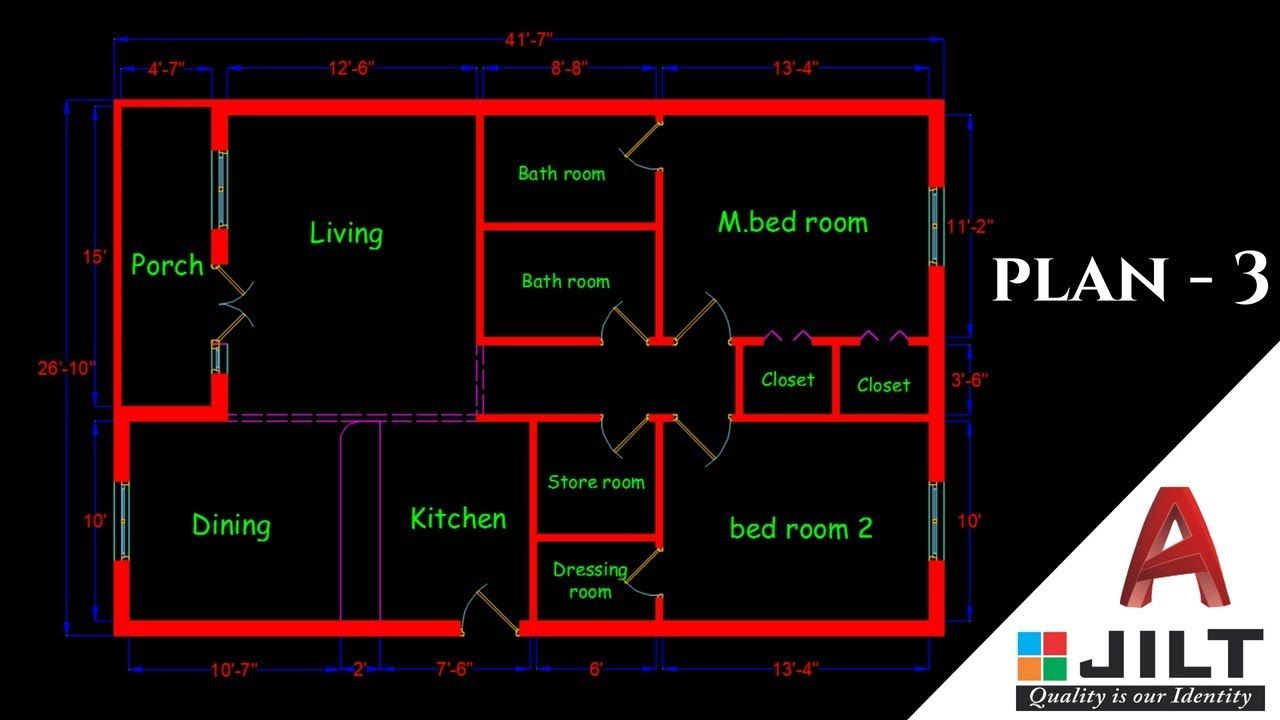 Simple Floor Plan Design Autocad