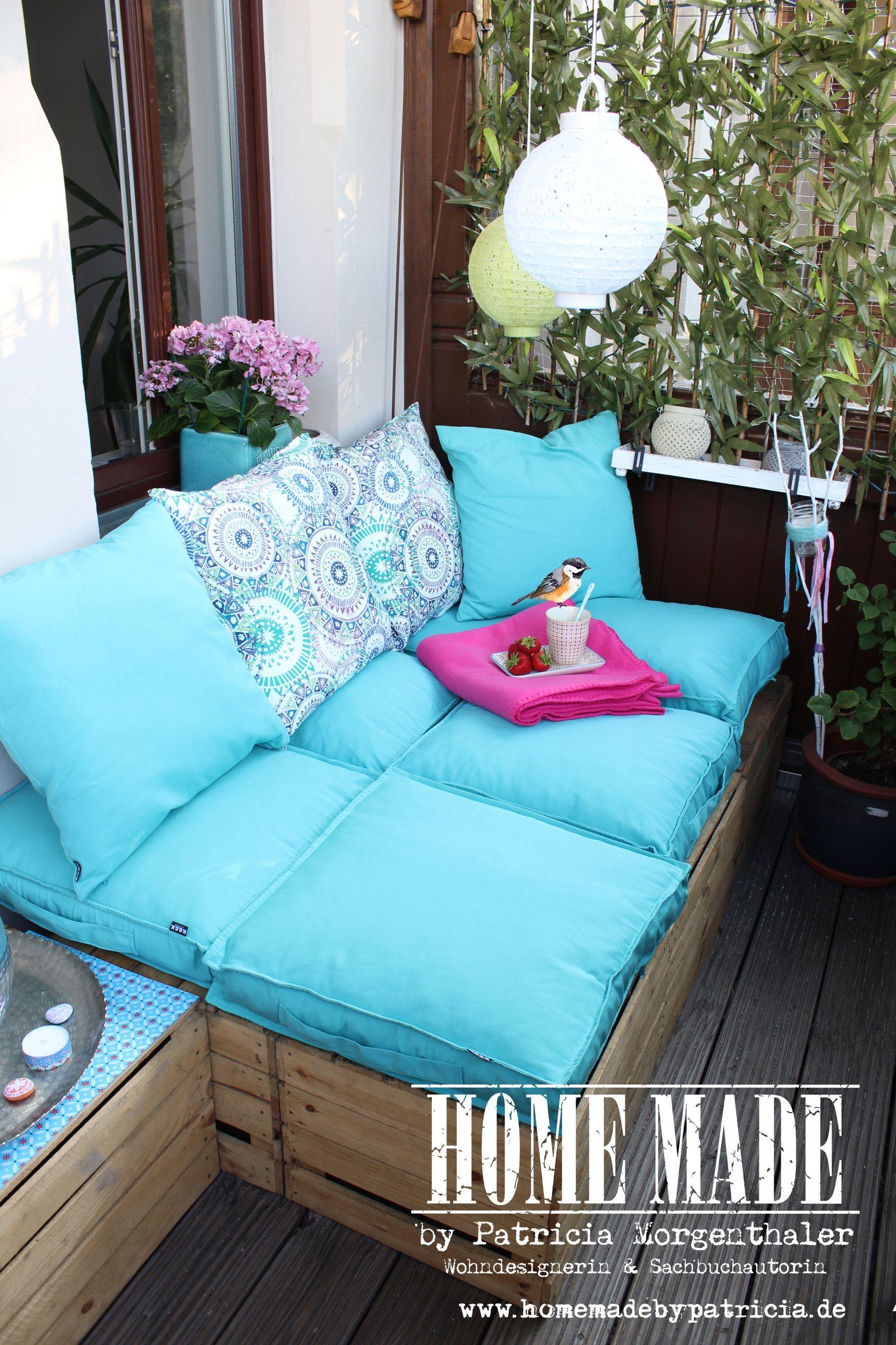 kuhle dekoration loungemobel balkon selber bauen, diy idee: endlich habe ich es geschafft und aus meinen zahlreichen, Innenarchitektur