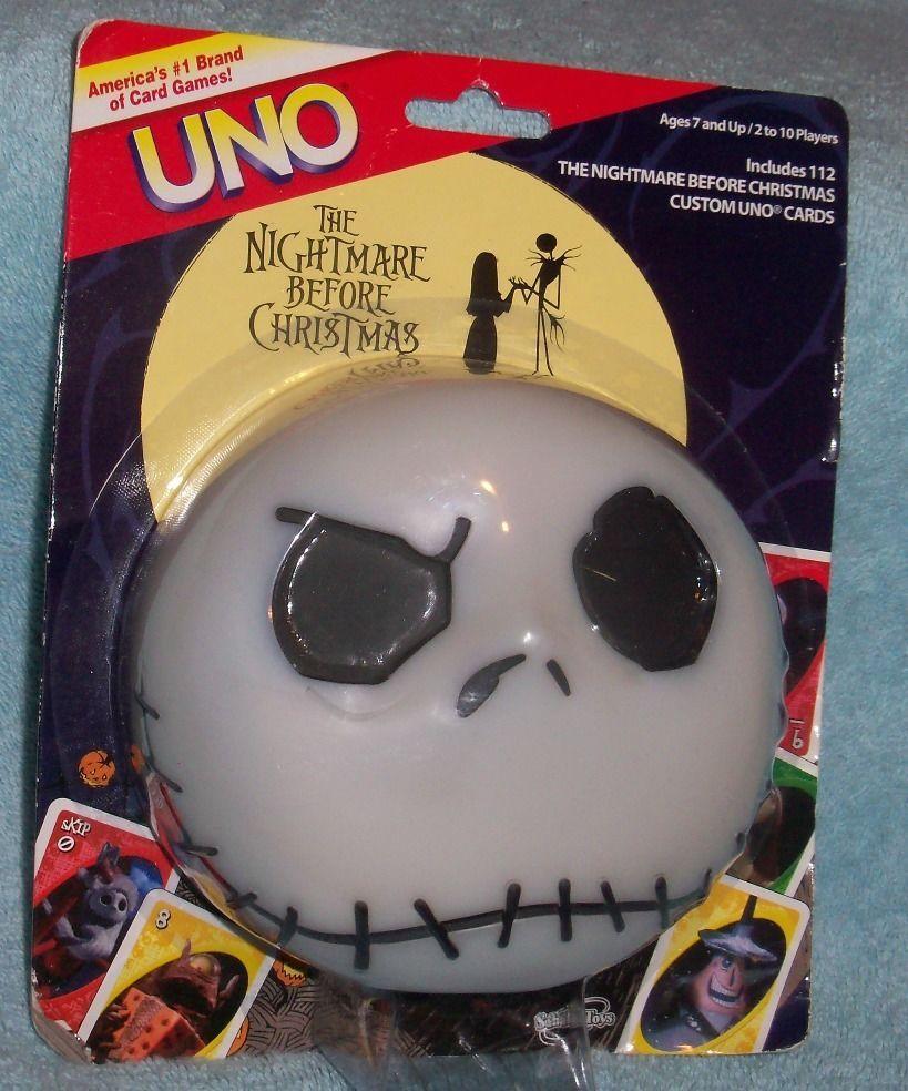 NIP Nightmare Before Christmas UNO Game | Nightmare Before Christmas ...