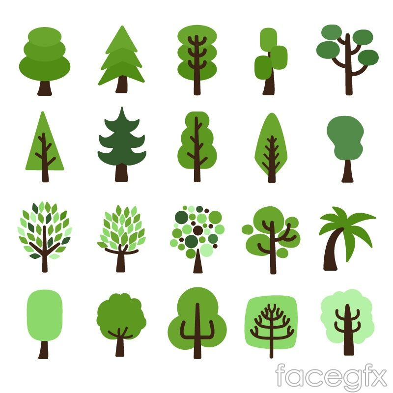 20 Cartoon Trees Design Vector Flower Drawing Cartoon Trees Tree Drawing Cartoon generation family tree in flat style grandparents parents and child isolated on white background. 20 cartoon trees design vector flower