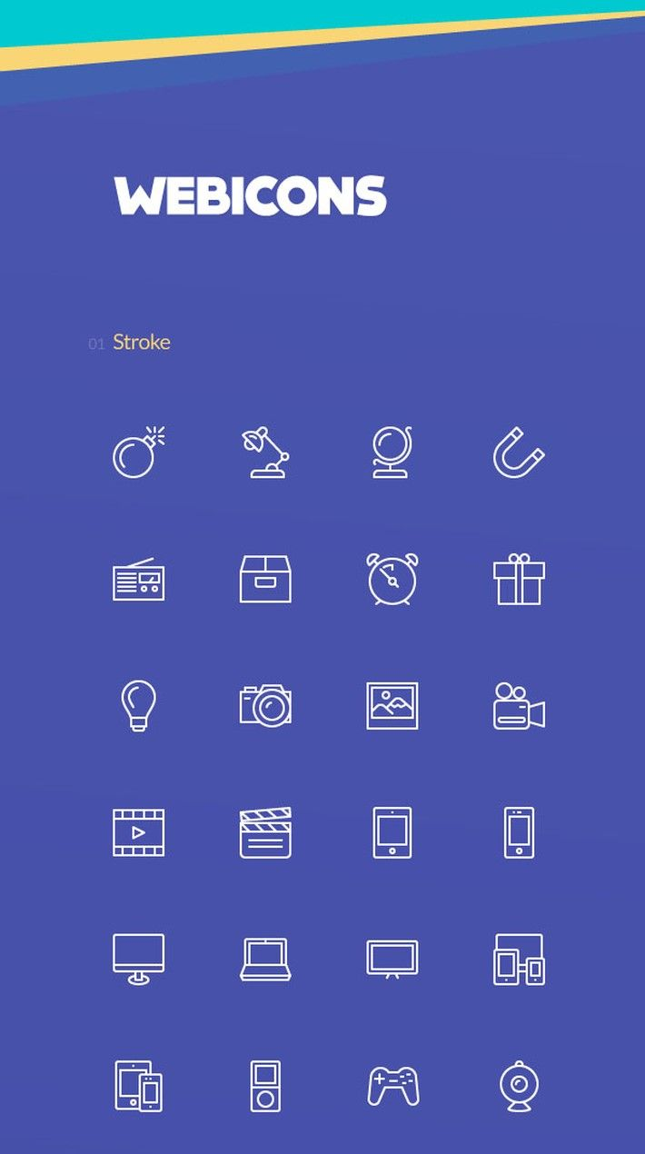 100 Free Stroke And Fill Web Icons Free Web Icons Web Icons Icon