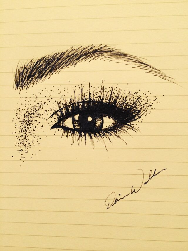 Drawing eye art dotted shading