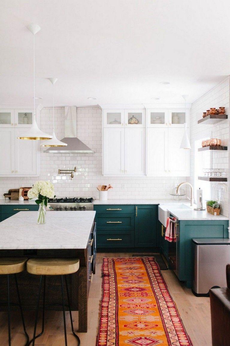20 Gorgeouse Boheiman Kitchen Inspired Design In 2020 Green