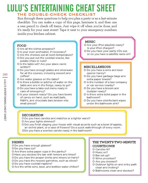 Party Planning Tips And Printable Checklist Party Planning
