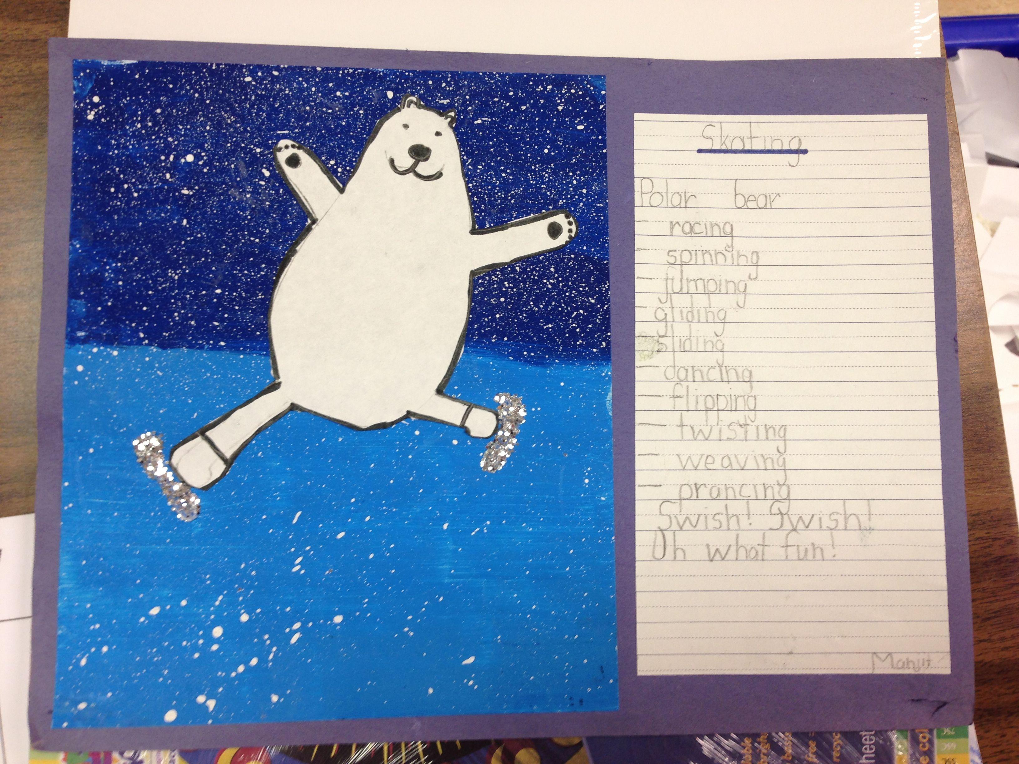 Skating Polar Bear Writing Activity