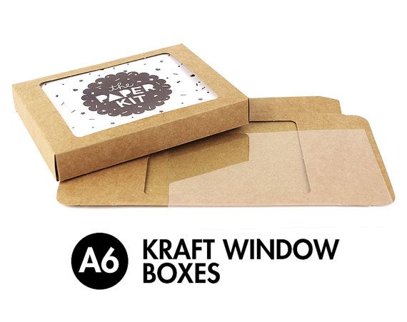 25 a6 6 bar kraft greeting card boxes clear window box 4 7 25 a6 6 bar kraft greeting card boxes clear window box m4hsunfo Image collections