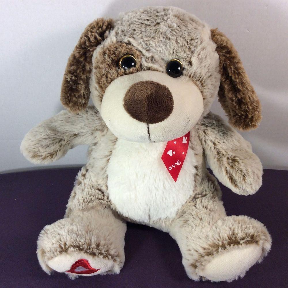 Kellytoy Plush Love Puppy Dog Sparkle Eyes Heart Left Foot Love Satin Ribbon 12 Kellytoy Plush Stuffed Animals Dogs And Puppies Pet Toys [ 1000 x 1000 Pixel ]