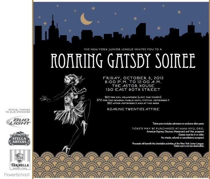 invite Gatsby Prom Pinterest