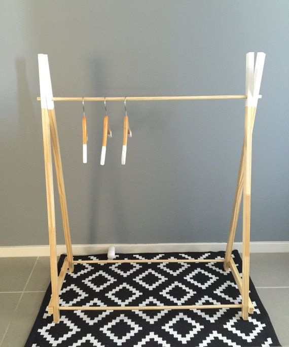 clothing rack timber clothes rack