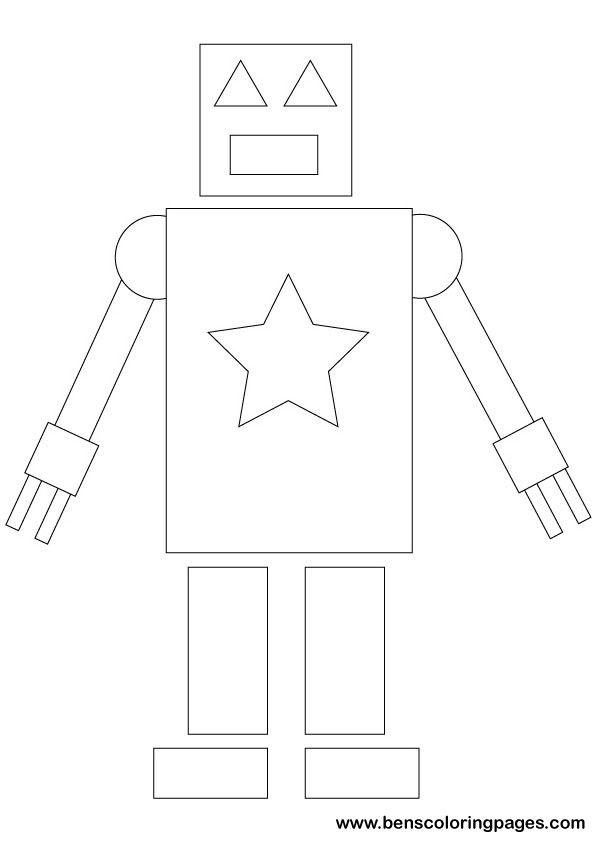 Simple Shapes Maths Printout For School Shapes Preschool Shape