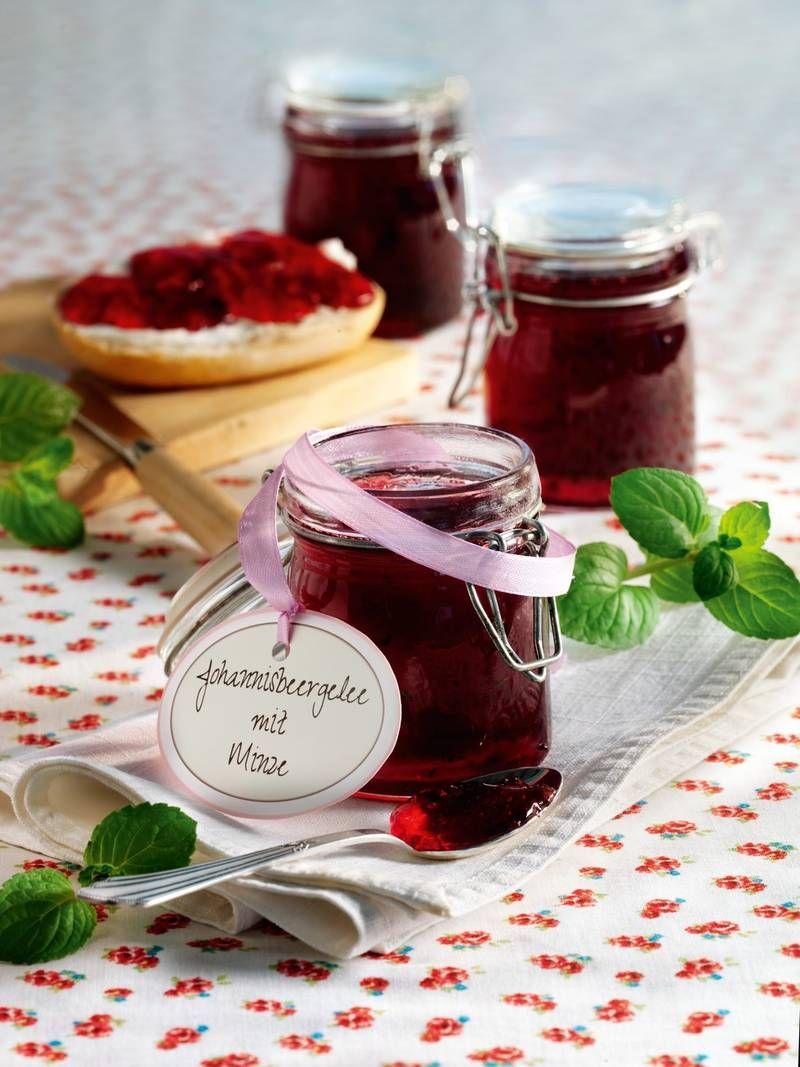 Johannisbeergelee Mit Minze Rezept In 2019 Marmeladen Gelees