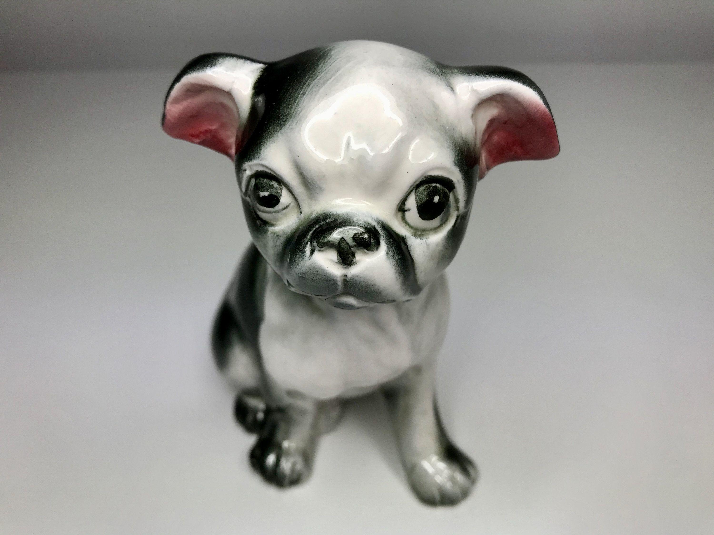 Vintage Boston Terrier Puppy Super Glossy Boston Figurine In 2020 With Images Boston Terrier Puppy Boston Terrier Puppies