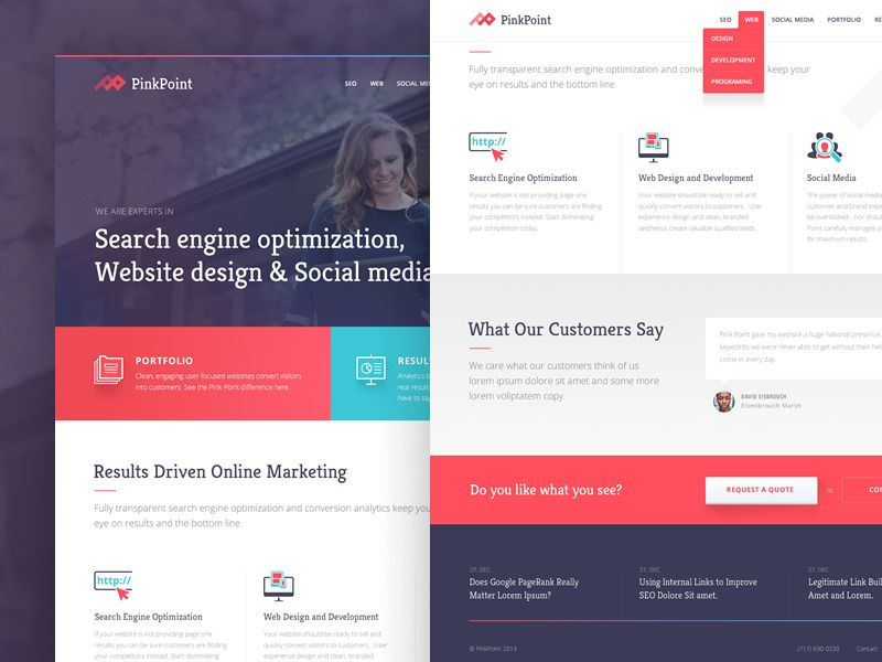 PinkPoint Homepage Design | Homepage design, Ui ux and Ui design